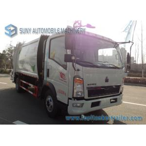 China 8000L 8M3 HOWO 4 X 2 Garbage Compactor Truck Q235 Carbon Steel Tank on sale