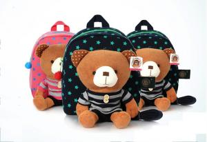 China hot sale! cheap and lovely soft bear baby plush bag on sale