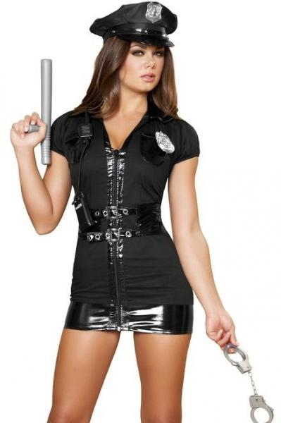 Police Officer Halloween Costumes | Naughty Patrol Police Officer Costume Ladies Halloween Costumes For