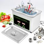 Mini Portable Ultrasonic Cleaner Stainless Steel 304 800ml 30W 40khz Power Adjustable