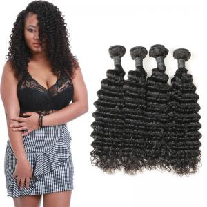 China Authentic Long Deep Wave Hair Bundles , Full Deep Wave Human Hair Weave on sale