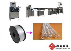 China Spiral Wire PET PVC Binding Ring Strip Bending Machine With Single Screw Design on sale