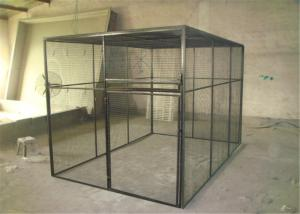 China outdoor welded mesh parrot/birds aviary house black powder coated big aviary cage for sale on sale