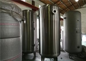 China ASME Certified Stainless Steel Air Receiver Tank Frosting Surface Treatment on sale