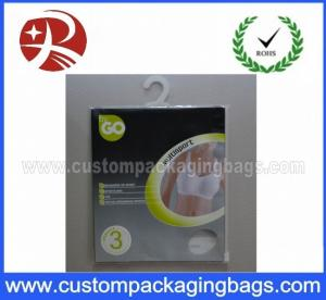China OEM Resealable Plastic Hanger Bags With Ziplock For Llingerie on sale
