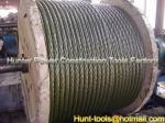 Corda puxando de aço galvanizada anti-torção resistente