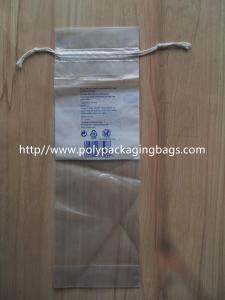 China LDPE Clear Drawstring Plastic Bags With Perforation For Cotton Wool Pads on sale