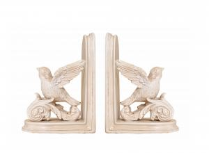 China Decorative Flying Bird Bookends Vintage / Dove Love Peace Art Deco Bookends on sale