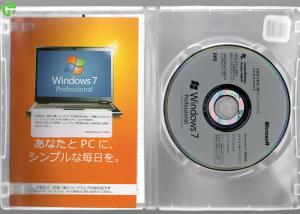 China Japanese Version windows 7 pro software / microsoft oem software Pack Full Retail Box on sale