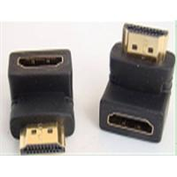 China HDMI male to female 90 degree angle Adapter,gold plated HDMI Adapter on sale