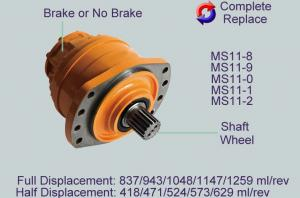 China MS83 Poclain Hydraulic Motor Parts With Drive Shaft / Front Cover / Plunger Piston on sale