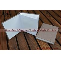 China Fabric Linen Wedding Slip in Album Matted Photo Album with inserts on sale