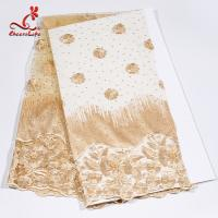 African Swiss Tulle Bridal Lace Fabric For Haute Couture Dress