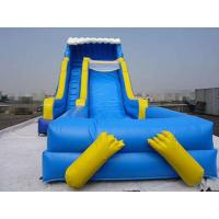 Blue Durable Swimming Pool Lake Inflatable Water Slides Eco Friendly PVC