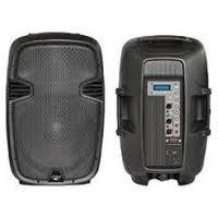 China 300W Portable DJ Stage Plastic Powered Audio USB SD Two-Way PP Powered Active PA Speaker on sale