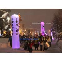LED RGB Inflatable Cylinder 162 Watt Balloon Light Tower Music Festival Decoration