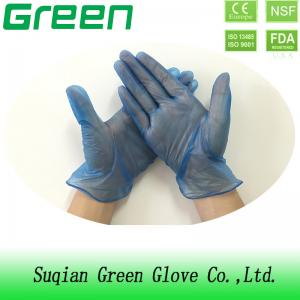 China DOTP Powdered And Powder Free Medical Blue Vinyl Exam Gloves supplier