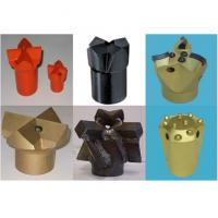 China Black & Gold Tapered Cross Bits Top Hammer Drilling 20mm - 65 mm on sale