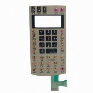 China Thin Film Push Button Membrane Switch Keyboard With Embossed Poly Dome on sale