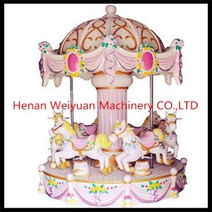 China 6 seats music mini carousel horse,lovely carousel for sale on sale