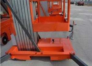 China Aluminum Alloy Mobile Electric Aerial Single Mast Lifting Car Elevators Work Platform on sale