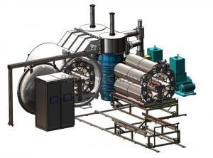 China Horizontal Vacuum Metalizing Machine, Glass Bangle PVD Vacuum Coating Machine on sale