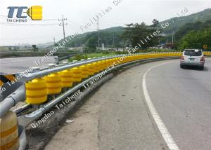 China EVA PU Polyurethane Rolling Crash Barrier , Expressway Steel Beam Guardrail on sale