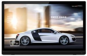 China 32 Large Digital Photo Frame For Video Play Advertising 250cd / m2 Brightness on sale