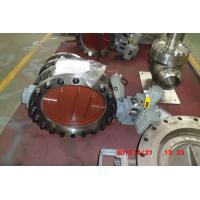 Carbon Steel Pneumatic Piston High Temp Butterfly Valve0.4 MPa Air Pressure