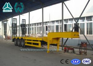 China High Performance Steel Low Bed Trailer 3 Axle With Hydraulic Ladder on sale