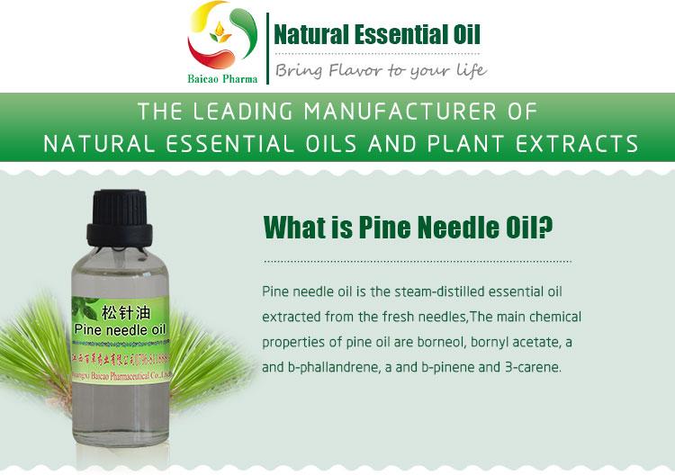 CAS NO  8000-26-8 Natural Organic Pine Needle Oil 100% fir needle