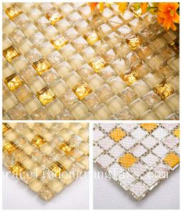 China Sheet size: 300x300mm thickness:8mm glass crystal mosaic for home decorative on sale
