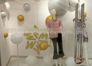 China Christmas Window Display Decorations Foam Balls With Gold / Silver Glitter Surface on sale