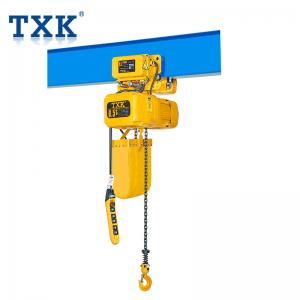 China Light Weight Body Single Phase Electric Chain Hoist 60HZ 230V For Construction on sale