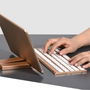 China Single Item Folding Bluetooth Keyboard 180mAh Li - Ion Battery With Stand Holder on sale