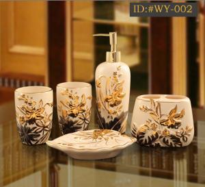 China L-D high-end luxurious ceramic bathroom accessories(Housewarming gift) ID:#WY-002 supplier
