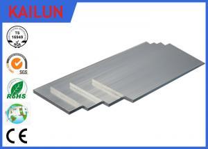 China la barra plana de aluminio de la oxidación de plata de 40m m, 6063 anodizó perfiles sólidos de la barra de la protuberancia de aluminio on sale