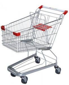China Germany Style Shopping Trolleys 5 Inch Grocery Hand Cart 1020×590×980 mm on sale