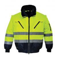 Hi Vis Detachable Sleeves Two Tone Reflective Safety Bomber Jacket