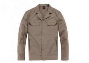 China Cotton / Polyester Men's Work Coats Jackets , Custom Women's Embroidered Workwear on sale