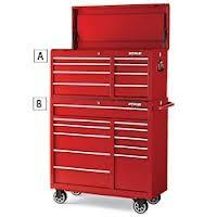Portable red 6 Drawer top chest & 5 Drawer O.8 - 1.0 steel tool chest roller cabinet