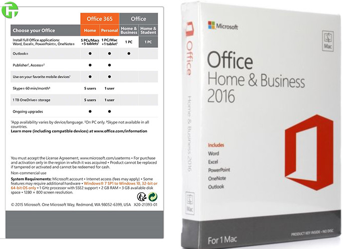 office home & student 2016 product key card