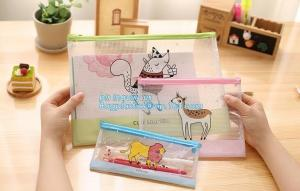 China Customize Mesh PVC Pencil Bag A4 Travel Passport Pouch, Plastic ziplock document file bag on sale