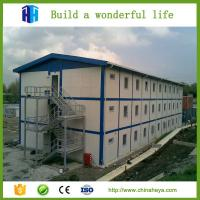 China Low cost light steel frame prefab camp construction site accommodation house on sale