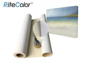 China Water Based Inkjet Printable Canvas / 100% Cotton Art Canvas Rolls Matte Surface on sale