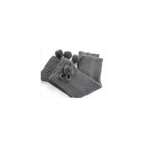 China OEM Grey 56N Acrylic + Spandex Knitted Leg / Arms Warmers Pattern For Women / Girls on sale