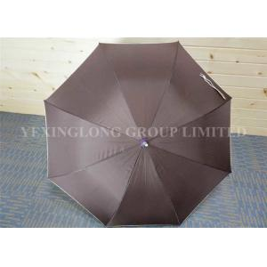 China Lightweight Brown Plastic Curved Handle Umbrella Corporate Gift Metal Tips on sale