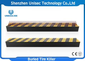 China Uniqscan High Security Buried Parking Lot Tire Spikes / Spike Strips For Cars on sale