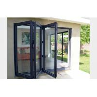 Commercial system double glass aluminum bi folding door