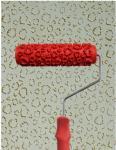 7 rolo da pele do leopardo, escova decorativa do rolo de pintura da textura do projeto do teste padrão, item# RY322T